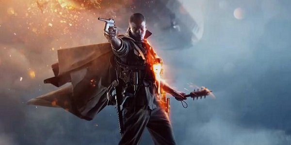 A soldier aims his pistol in Battlefield 1.