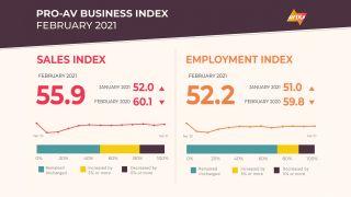 AVIXA Pro AV Business Index for February 2021