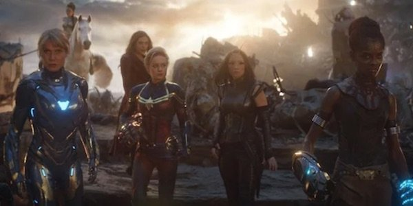 the women of Marvel in Endgame