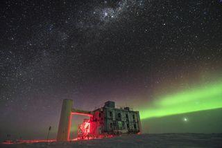 The IceCube neutrino lab in Antarctica