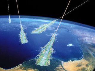 Energetic Cosmic Rays Strike top of Earth's Atmosphere