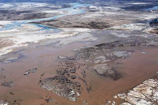 Colorado River delta flood