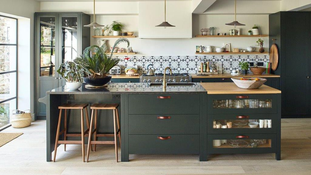 Kitchen Of The Week A Diy Ikea Country Kitchen For Two: Best Types Of Kitchen Worktop: Granite, Quartz, Marble