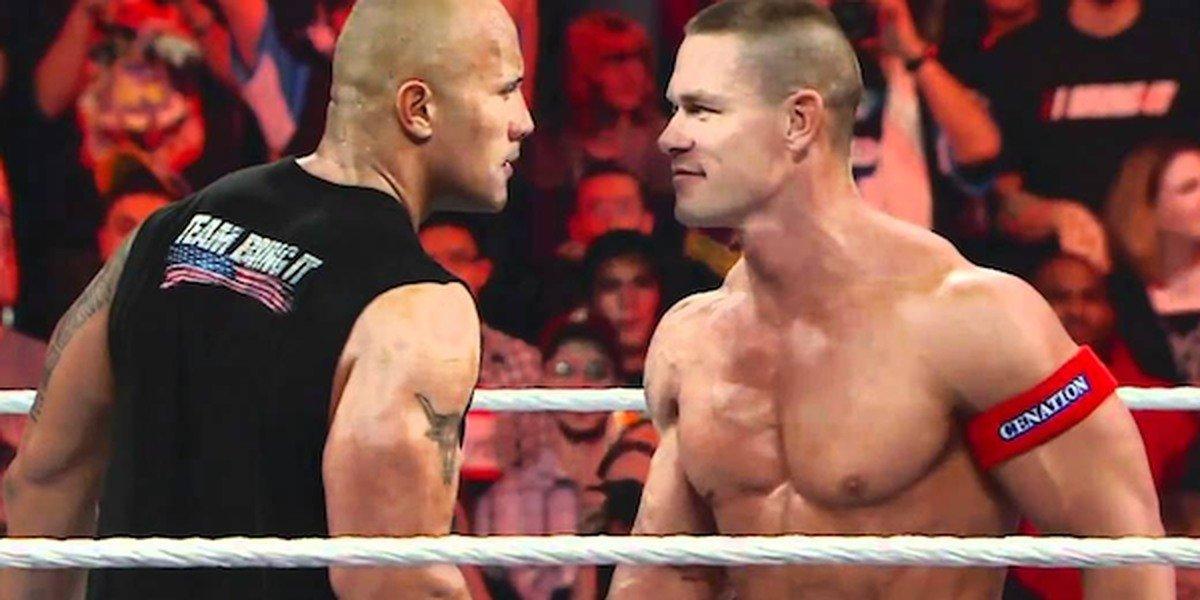 The Rock and John Cena in WWE screenshot