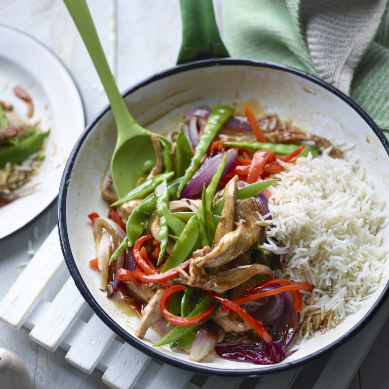 Body coach Joe Wicks Lean in 15 recipe Sweet and sour pork with rice