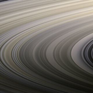 Saturn's rings on Aug. 22, 2009