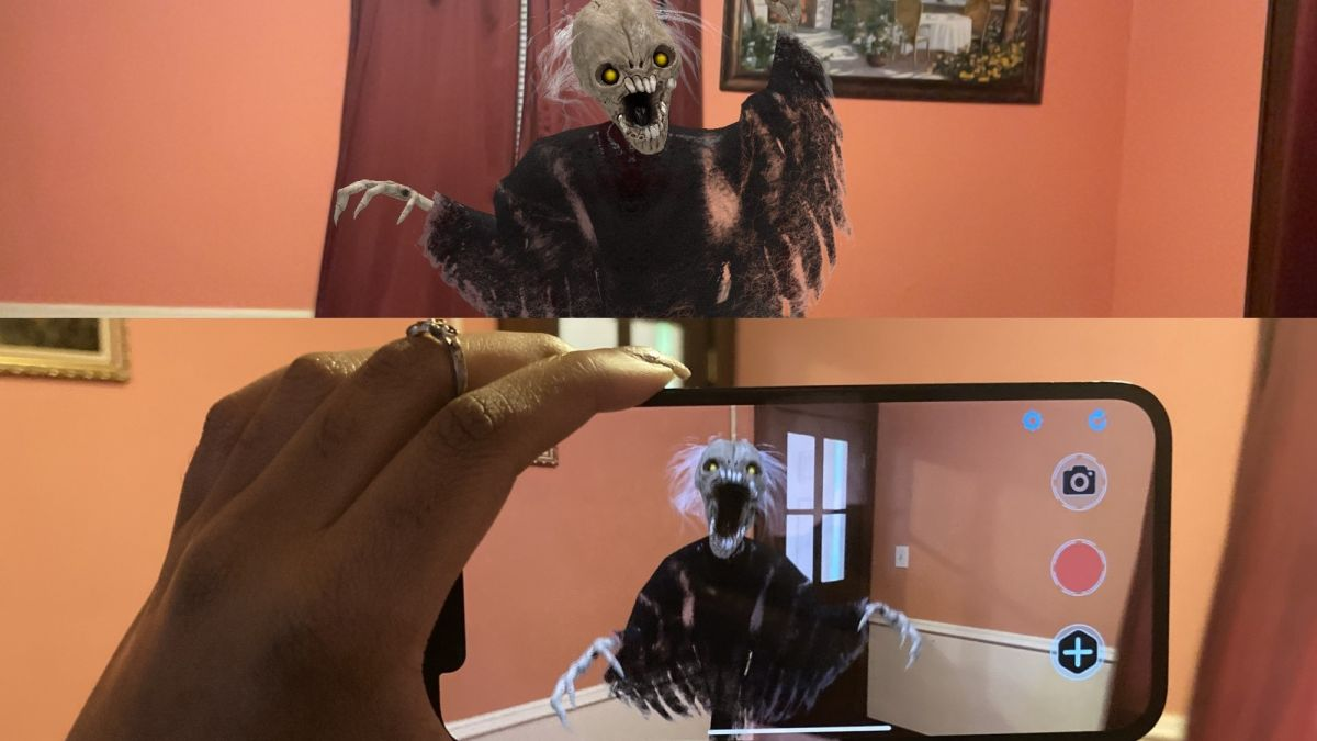 iPhone 12 AR apps are badass — there's a demon in my dining room!
