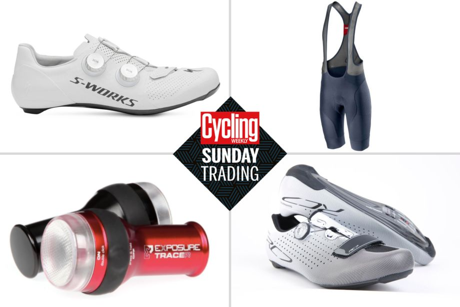 Sunday trading: Up to 50% off Exposure lights plus massive discounts on Specialized and Shimano shoes