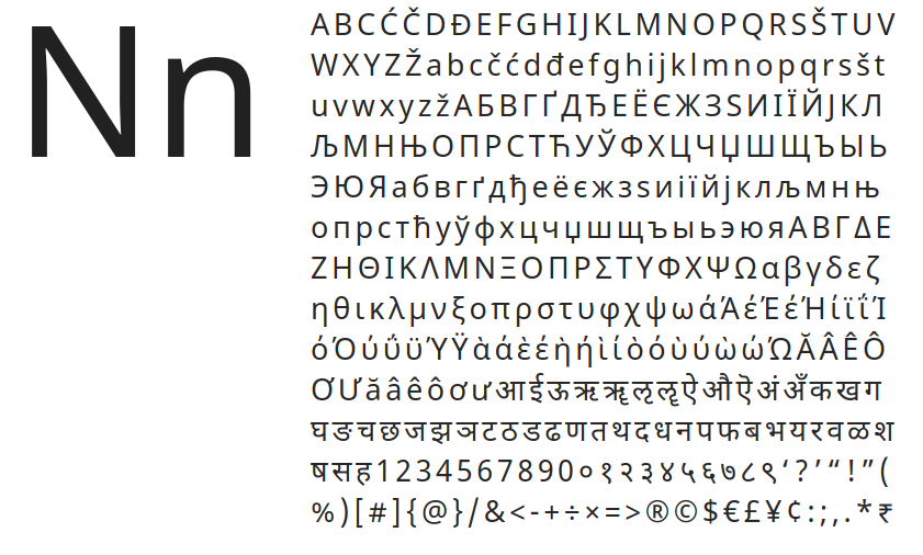 Best free fonts: Noto Sans