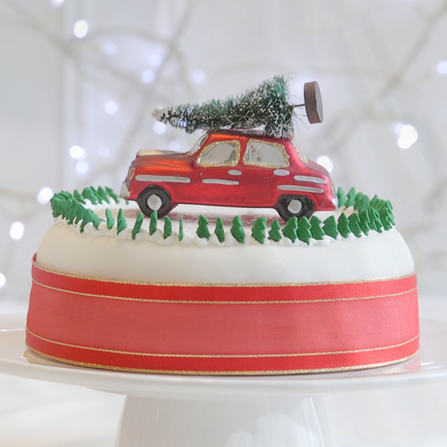 driving home for christmas cake