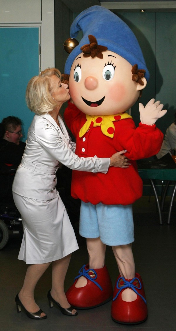 Helen Mirren kisses a giant Noddy