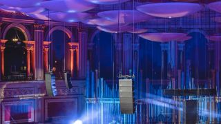 Seven circle delay arrays now hang from the ceiling (Image credit: Royal Albert Hall)