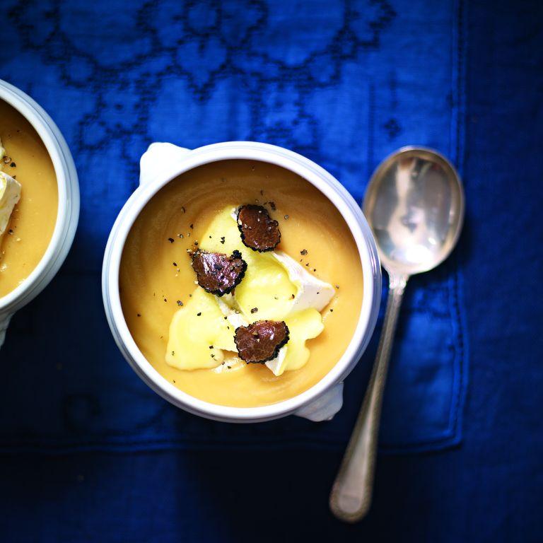 Celeriac, Camembert and Truffle Soup