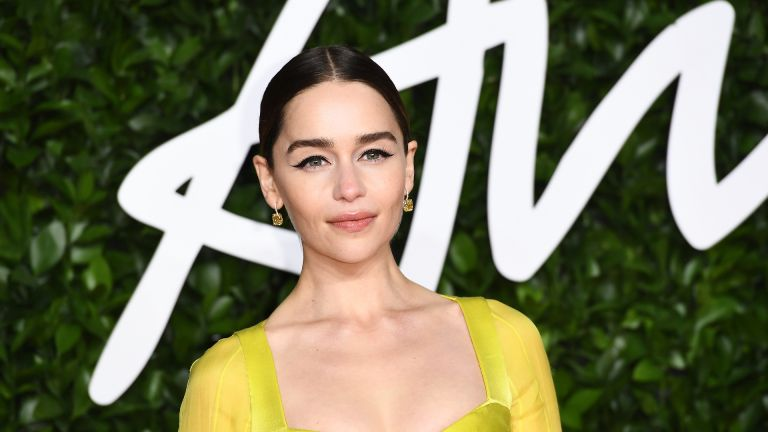 LONDON, ENGLAND - DECEMBER 02: Emilia Clarke arrives at The Fashion Awards 2019 held at Royal Albert Hall on December 02, 2019 in London, England. (Photo by Jeff Spicer/BFC/Getty Images)