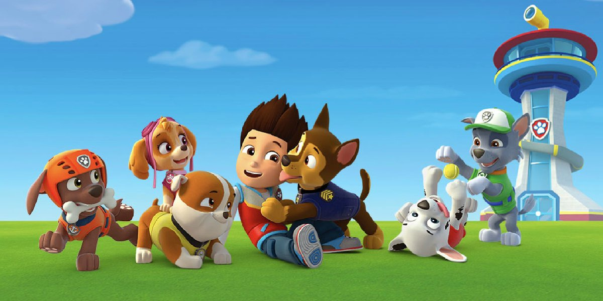 Ryder and the pups on Paw Patrol