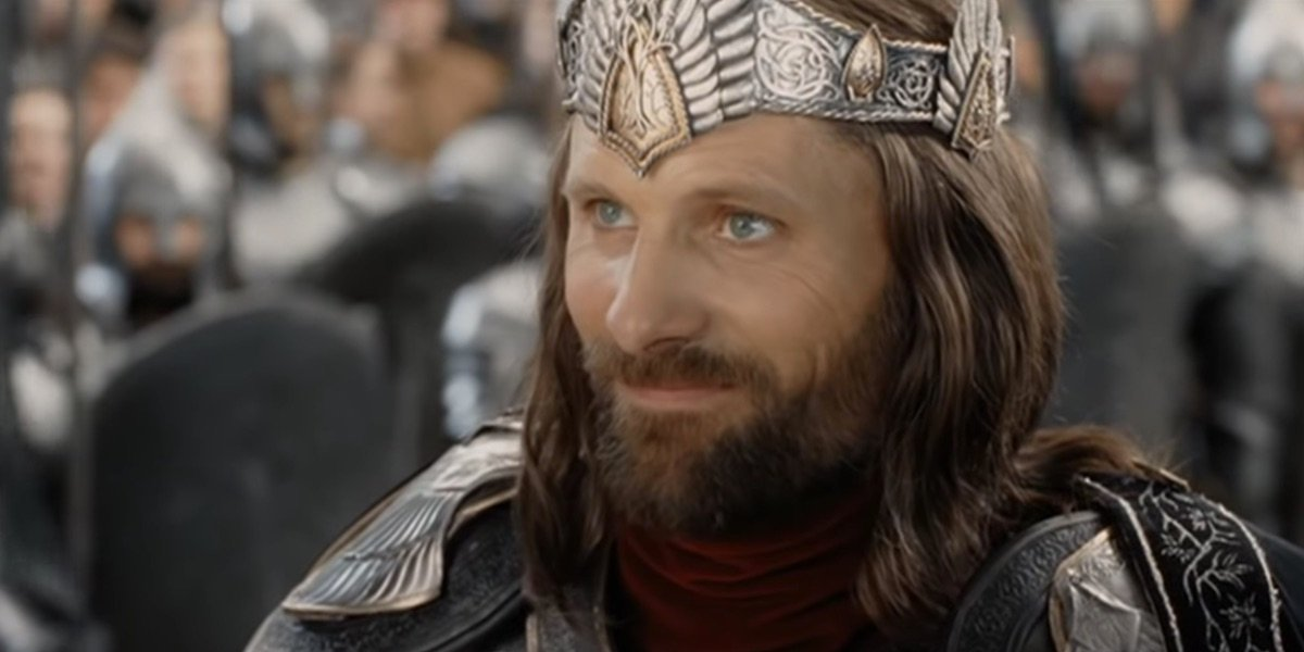 Aragorn being crowned