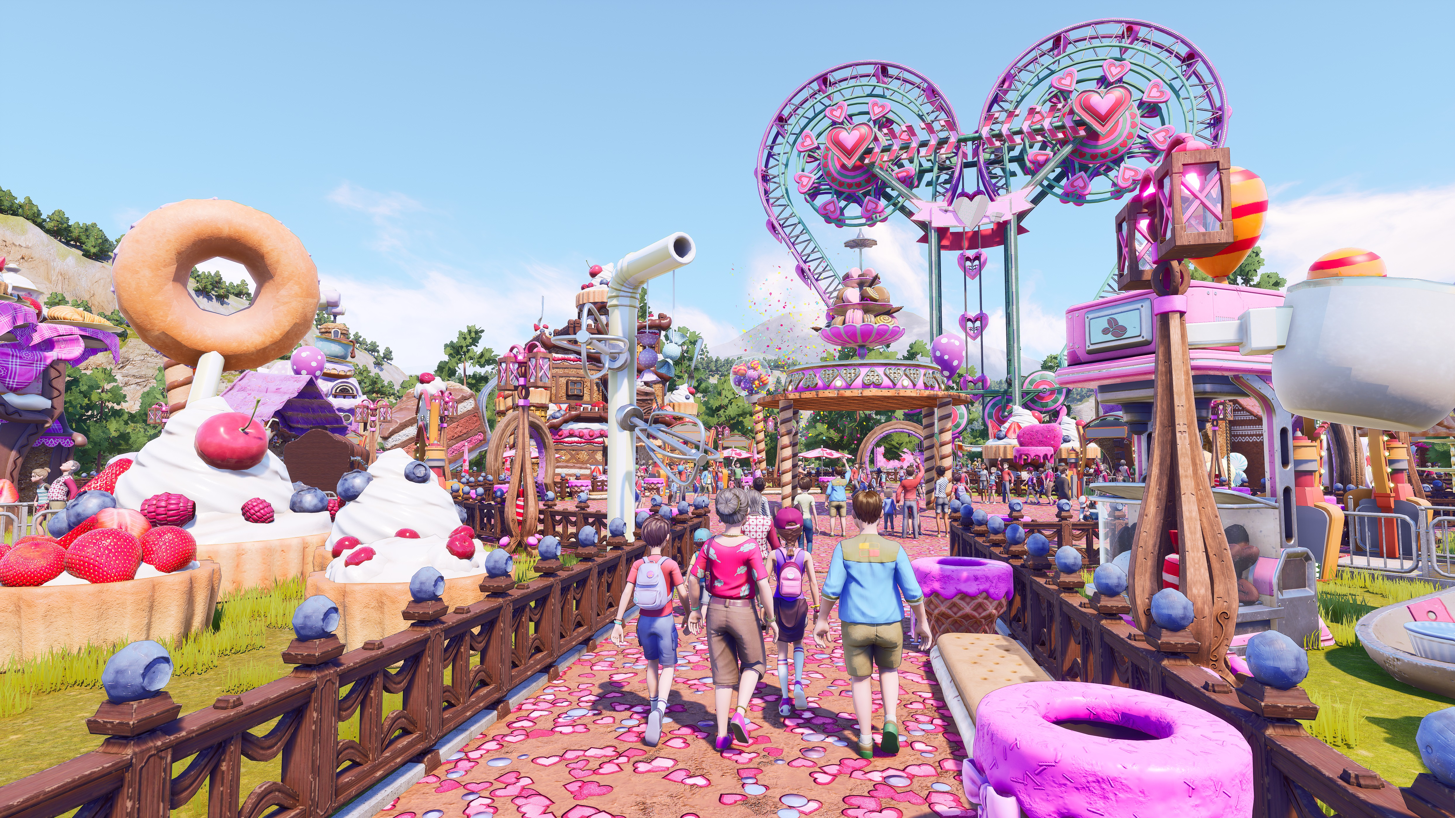 A Candyland-themed park