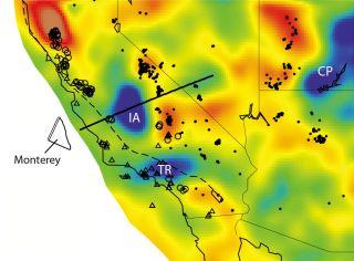 California geology and Farallon plate.
