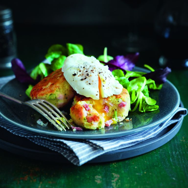Ham and Potato Cakes-christmas left overs-woman and home