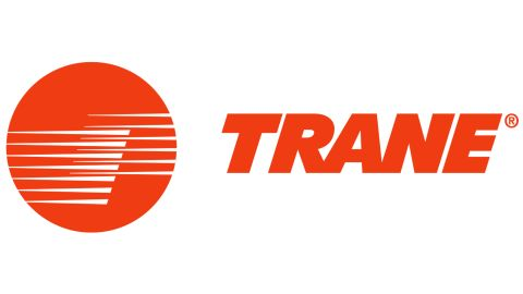 Trane central air conditioners review: image of Trane logo with red circle.