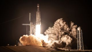 A SpaceX Falcon Heavy rocket launches the STP-2 mission for the U.S. Department of Defense on June 25, 2019.