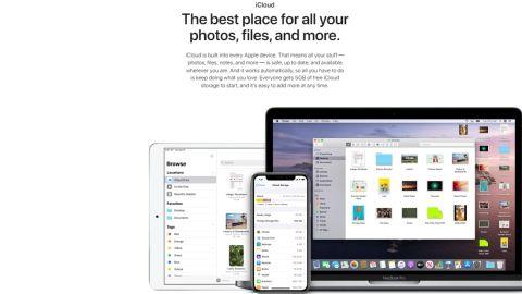 Apple iCloud's homepage