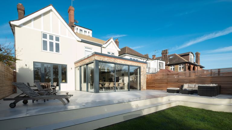 modern extension attached to period property by IQ Glass UK