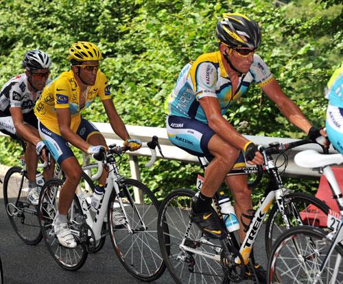 Lance Armstrong, Alberto Contador, Tour de France 2009, stage 17