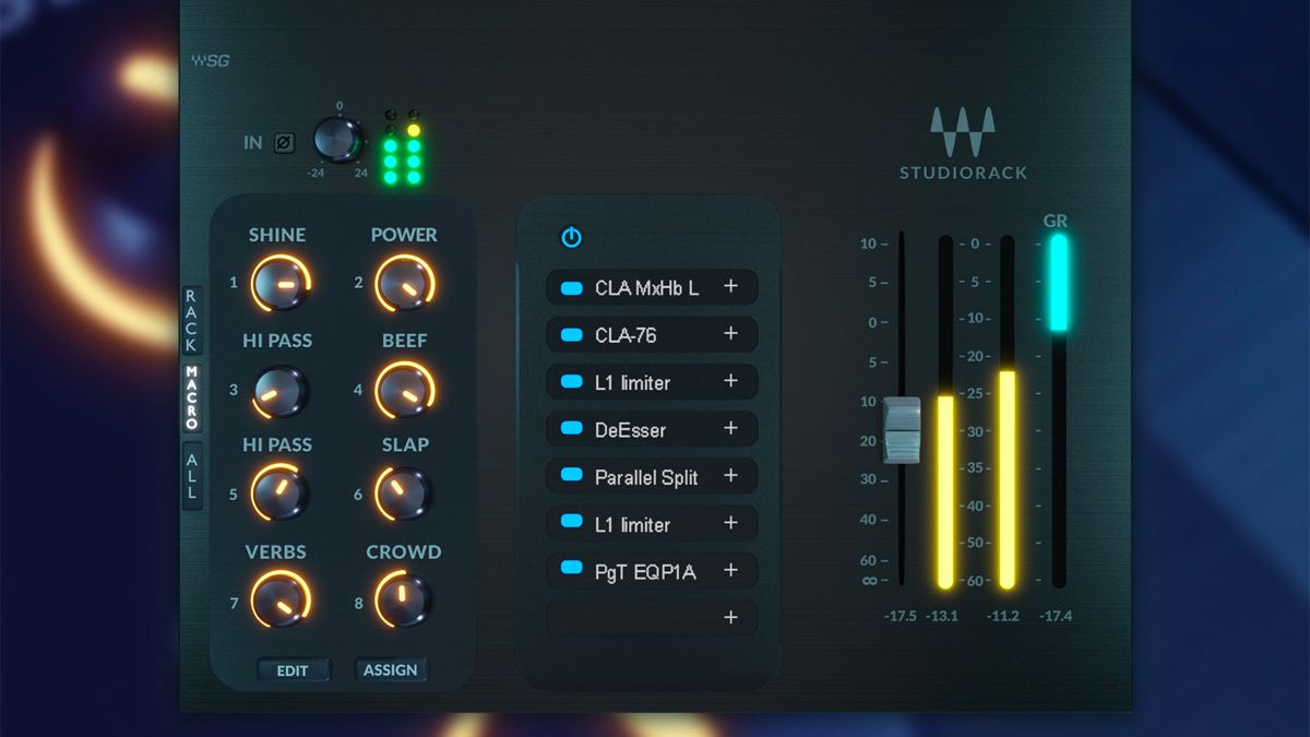 "Waves' free StudioRack chainer adds macros so you can create your own ""custom plugins"""