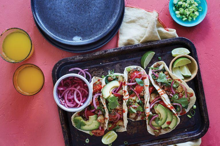 vegan breakfast tacos by BOSH!