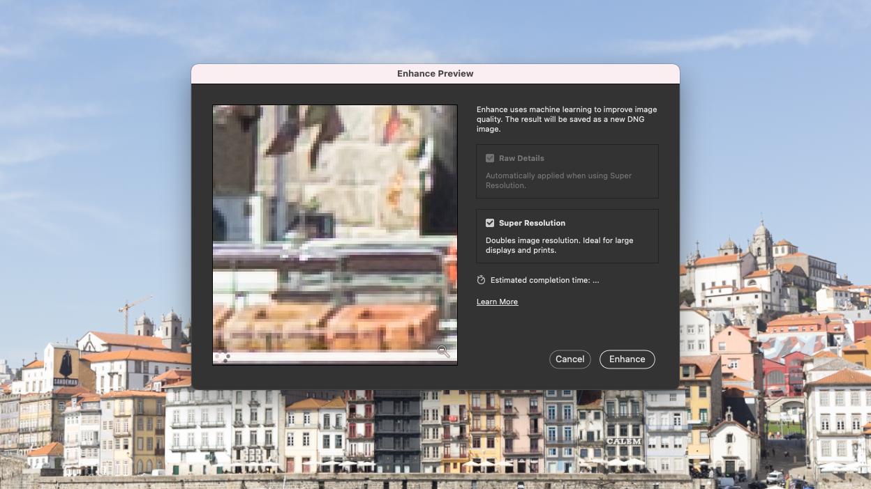 Adobe Photoshop Super Resolution