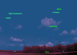 October 2012 Mercury Sky Map