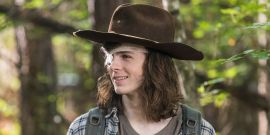The Walking Dead's Chandler Riggs Had A+ Reaction To Video Of Carl's Name Being Said Repeatedly