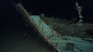 A shipwreck in the Gulf of Mexico.