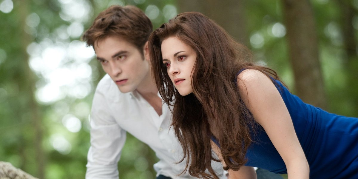 Robert Pattinson and Kristen Stewart in Twilight: Breaking Dawn