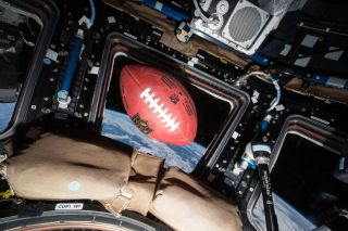 Football on the Space Station