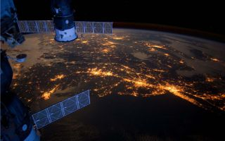 Nighttime Lights in a US Megalopolis