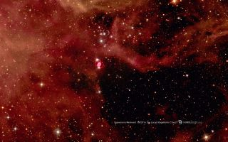 supernova 1987A in the large magellanic cloud space wallpaper
