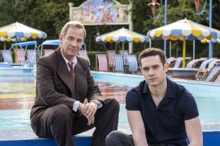 TV Tonight - Robson Green as Geordie Keating and Tom Brittney as Rev Will Davenport.