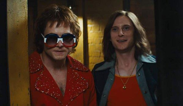 Rocketman Elton and Bernie preparing to go on stage