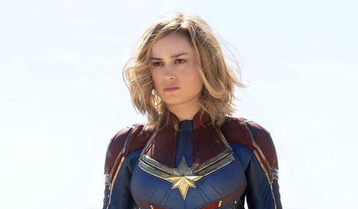 Captain Marvel looking distant.