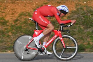 LAGOA ALGARVE PORTUGAL FEBRUARY 22 Stefan Kung of FSwitzerland and Team Groupama FDJ during the 45th Volta ao Algarve Stage 3 a 203km Individual Time Trial stage from Lagoa to Lagoa ITT VA VAlgarve2019 on February 22 2019 in Lagoa Algarve Portugal Photo by Tim de WaeleGetty Images