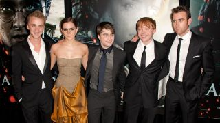 Harry Potter actors Tom Felton, Emma Watson, Daniel Radcliffe, Rupert Grint and Matthew Lewis (L-R).