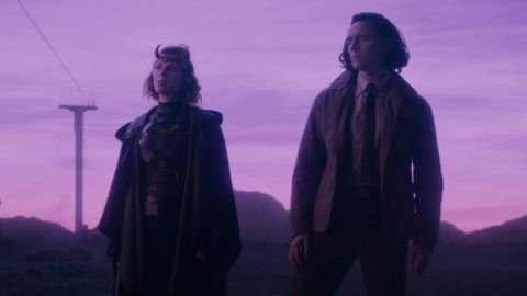 Sophia Di Martino and Tom Hiddleston in Loki