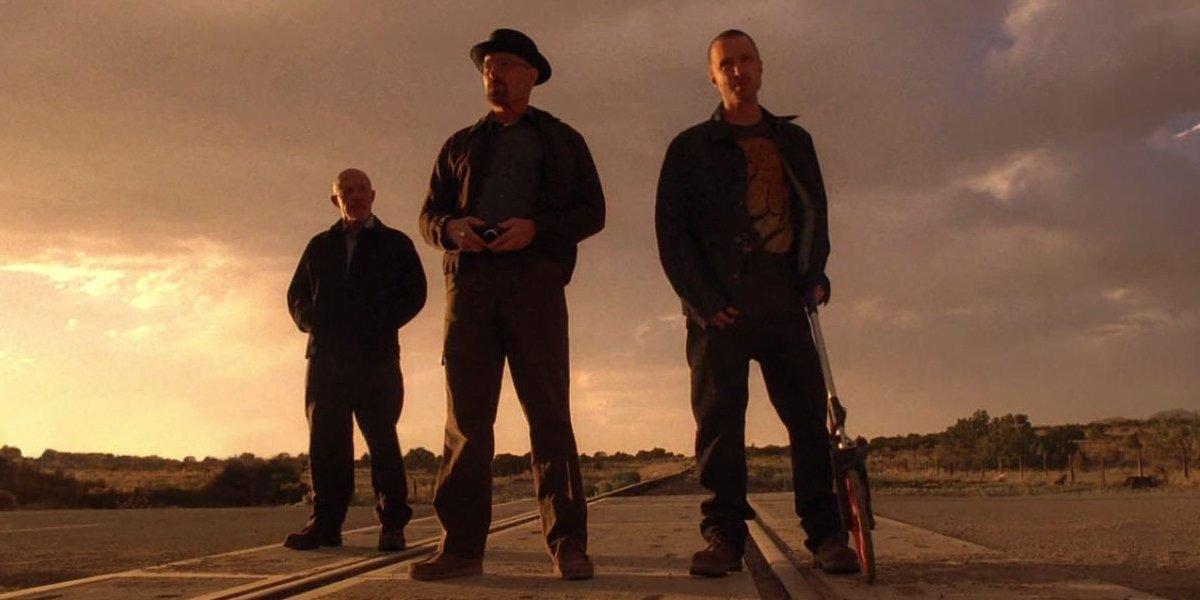 Jonathan Banks, Bryan Cranston, and Aaron Paul in Breaking Bad