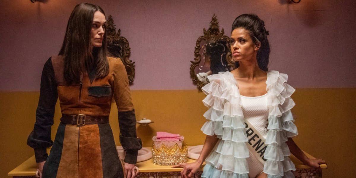 Misbehaviour Keira Knightley and Gugu Mbatha-Raw face off backstage