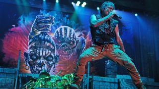Iron Maiden live on stage
