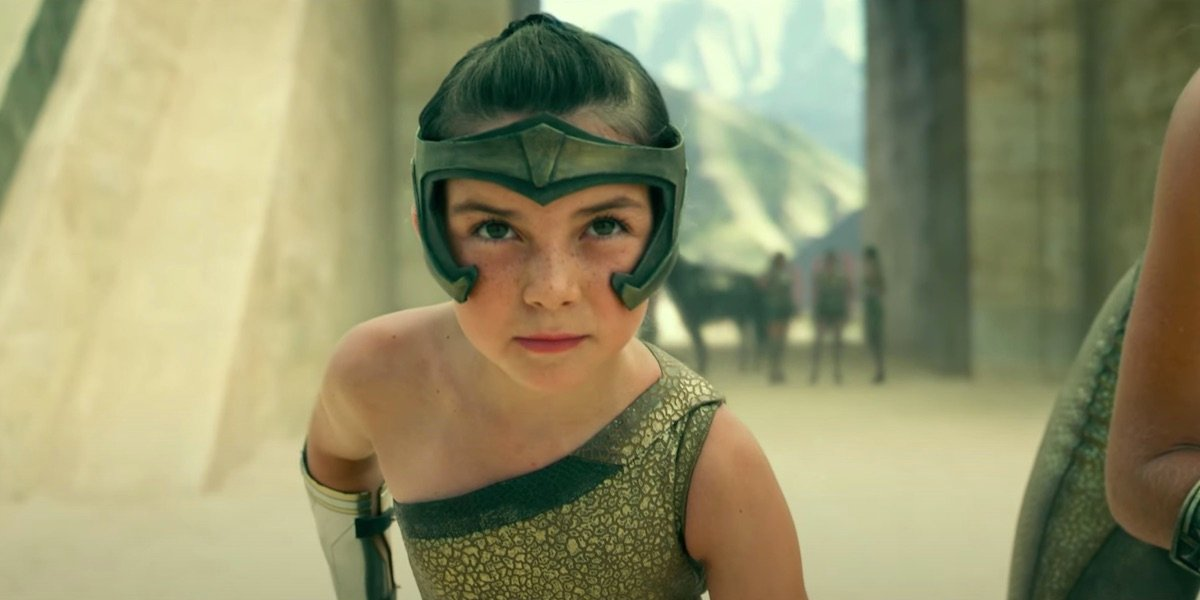 Lilly Aspell as young Diana in Wonder Woman 1984