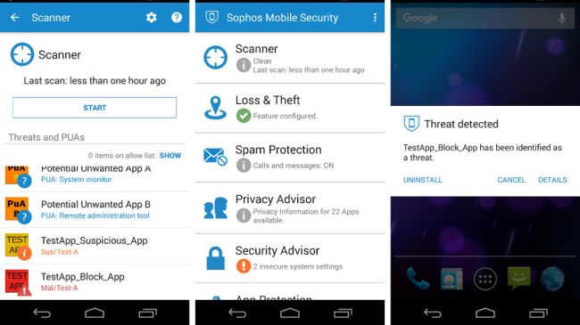 Sophos Mobile Security software