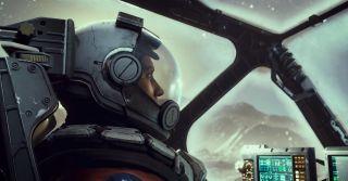 Starfield spaceship pilot